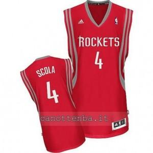 maglia louis scola #4 houston rockets revolution 30 rosso
