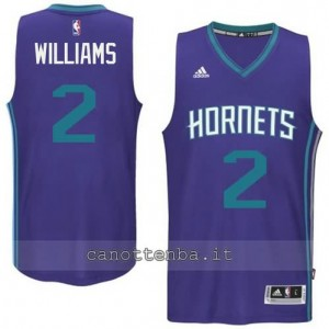 maglia marvin williams #2 charlotte hornets 2015 porpora