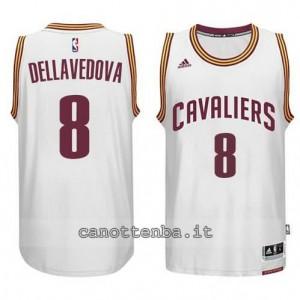 maglia matthew dellavedova #8 cleveland cavaliers 2014-2015 bianca