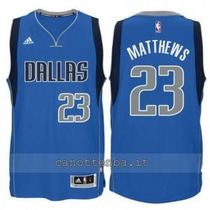 maglia matthews #23 philadelphia 76ers classico blu