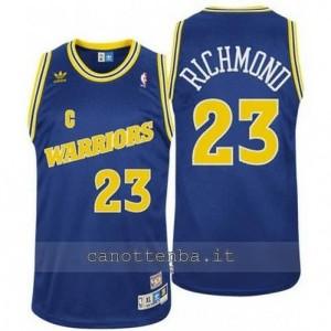 maglia mitch richmond #23 golden state warriors classico blu