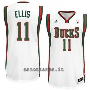 maglia monta ellis #11 milwaukee bucks revolution 30 bianca