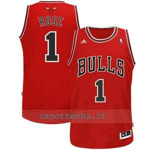 maglia nba bambino chicago bulls derrick rose #1 rosso
