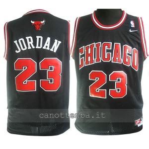 maglia nba bambino chicago bulls michael jordan #23 nero
