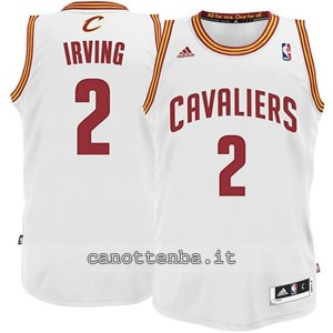 maglia nba bambino cleveland cavaliers kyrie irving #2 bianca