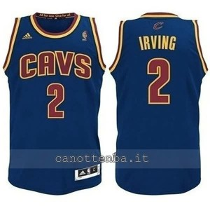 maglia nba bambino cleveland cavaliers kyrie irving #2 blu