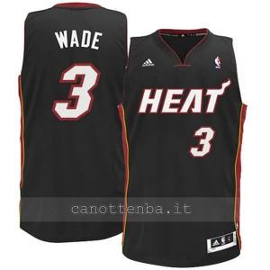 maglia nba bambino miami heat dwyane wade #3 nero