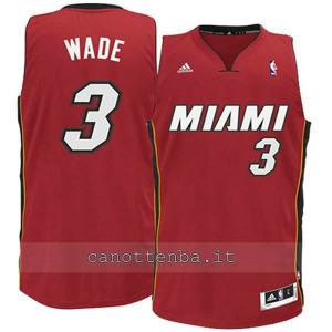 maglia nba bambino miami heat dwyane wade #3 rosso
