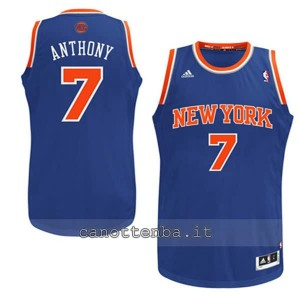 maglia nba bambino new york knicks carmelo anthony #7 blu