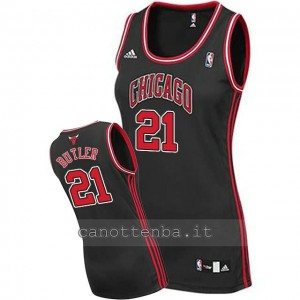 maglia nba donna chicago bulls jimmy butler #21 nero