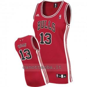maglia nba donna chicago bulls joakim noah #13 rosso