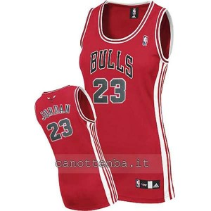maglia nba donna chicago bulls michael jordan #23 rosso
