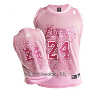 maglia nba donna los angeles lakers kobe bryant #24 rosa
