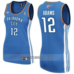 maglia nba donna oklahoma city thunder steven adams #12 blu