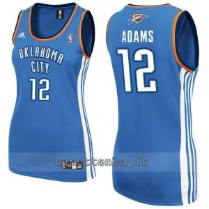 maglia nba donna oklahoma city thunder steven adams #12 blu