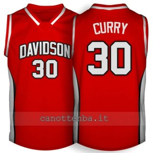 maglia ncaa davidson 2007-2009 stephen curry #30 rosso