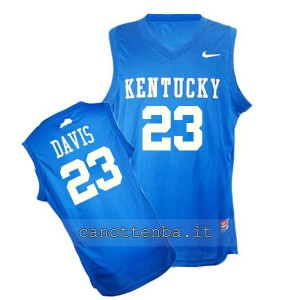 maglia ncaa kentucky wildcats anthony davis #23 blu
