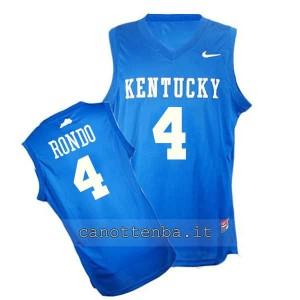 maglia ncaa kentucky wildcats rajon rondo #4 blu