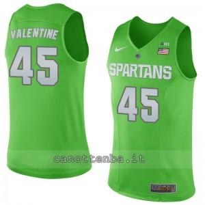 maglia ncaa michigan state spartans denzel valentine #4#5 verde