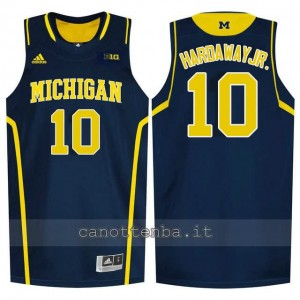 maglia ncaa michigan wolverines tim hardaway #10 blu