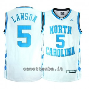 maglia ncaa north carolina tar heels tyler hansbrough #50 bianca
