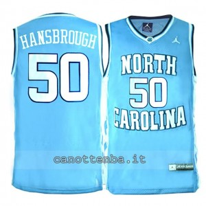 maglia ncaa north carolina tar heels tyler hansbrough #50 blu