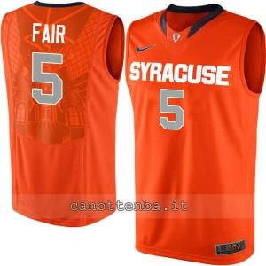maglia ncaa syracuse orange fair #5 arancia