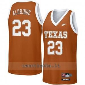 maglia ncaa texas longhorns lamarcus aldridge #23 arancia