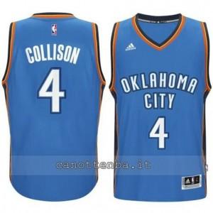 maglia nick collison #4 oklahoma city thunder 2014-2015 blu