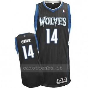 maglia nikola pekovic #14 minnesota timberwolves revolution 30 nero