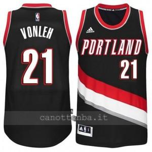 maglia noah vonleh #21 portland trail blazers 2014-2015 nero