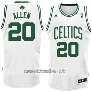 maglia ray allen #20 boston celtics revolution 30 bianca
