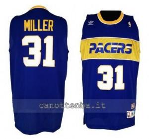 maglia reggie miller #31 indiana pacers 1985-1990 blu