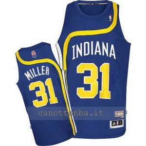 maglia reggie miller #31 indiana pacers retro blu