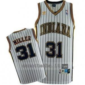 maglia reggie miller #31 indiana pacers striscia bianca