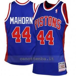 maglia rick mahorn #44 detroit pistons blu