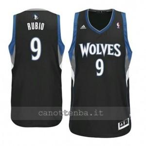 maglia ricky rubio #9 minnesota timberwolves revolution 30 nero