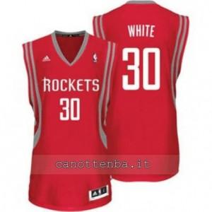 maglia royce white #30 houston rockets revolution 30 rosso