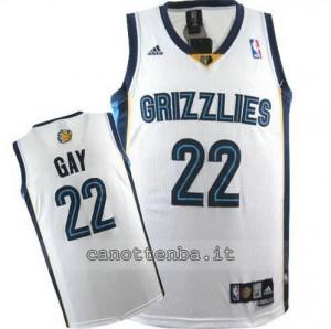 maglia rudy gay #22 memphis grizzlies revolution 30 bianca