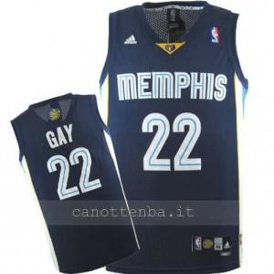 maglia rudy gay #22 memphis grizzlies revolution 30 blu
