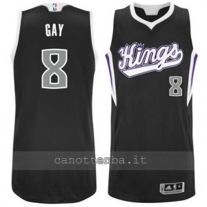 maglia rudy gay #8 sacramento kings revolution 30 nero
