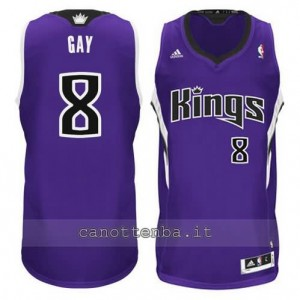 maglia rudy gay #8 sacramento kings revolution 30 porpora