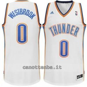 maglia russell westbrook #0 oklahoma city thunder revolution 30 bianca