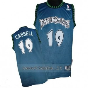 maglia sam cassell #19 minnesota timberwolves retro blu