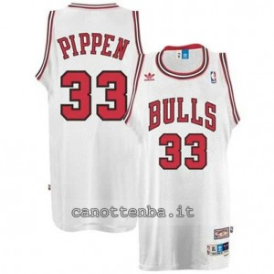maglia scottie pippen #33 chicago bulls retro bianca