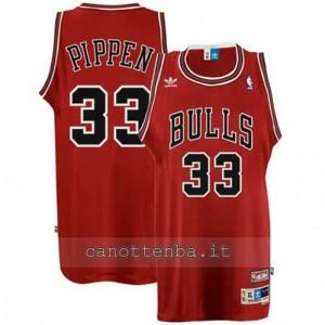 maglia scottie pippen #33 chicago bulls retro rosso