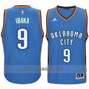 maglia serge ibaka #9 oklahoma city thunder 2014-2015 blu