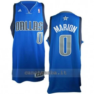 maglia shawn marion #0 dallas mavericks revolution 30 blu