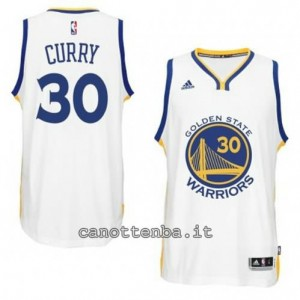 maglia stephen curry #30 golden state warriors 2014-2015 bianca