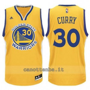 maglia stephen curry #30 golden state warriors 2015-2016 giallo